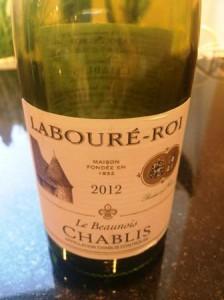 Le Beaunois Chablis 2012