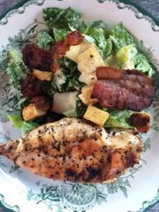 Caesar och grillad kyckling